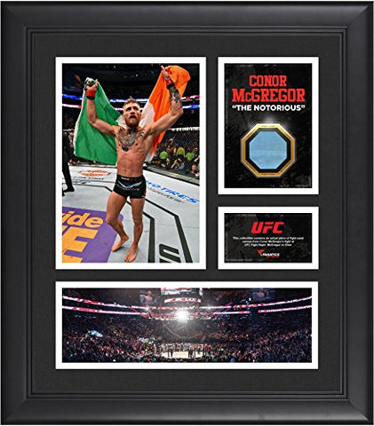 Conor McGregor Ultimate Fighting Championship Framed 15'' x 17'' Collage with Piece of Match-Used Canvas from UFC FIGHT NIGHT McGregor vs Siver - Fanatics Authentic Certified