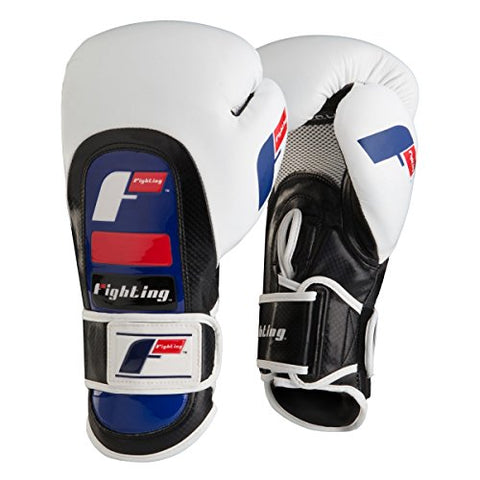 Fighting Sports Tri-Tech Tirade Bag Gloves, White/Black, 14 oz