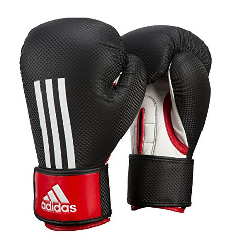 adidas Energy 200 Training Gloves, Black/Red, 16 oz