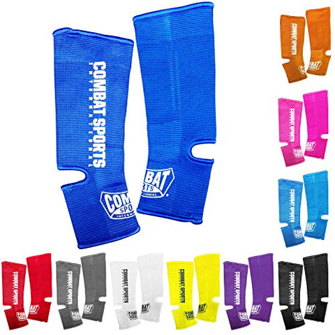 Combat Sports Ankle Support Wraps Muay Thai MMA Ankle Support Wraps, Yellow, One Size