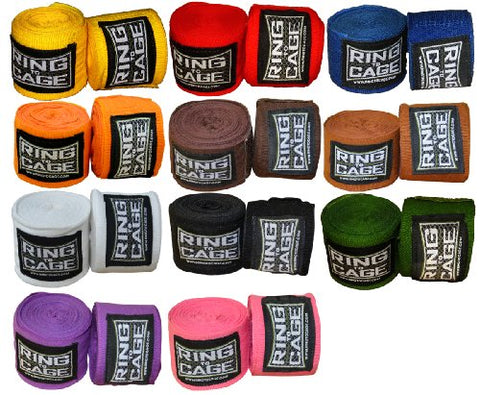 "11 Colors mexican stretch 180"" handwraps (11 pairs of assorted color PACK)"