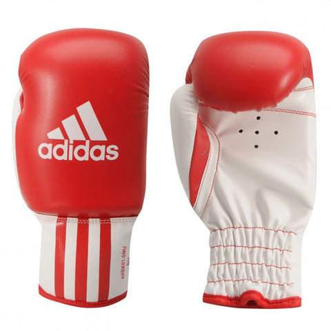 ADIDAS BOXING ELITE ROOKIE TRAINING GLOVES - RED/WHITE