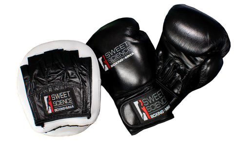 Boxing Gloves and Punching Mitts Combo