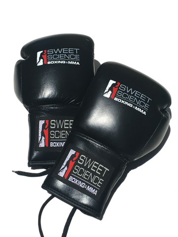 Sweet Science Boxing Happy Face Gloves - Leather Black - Sweet Science Boxing - 1