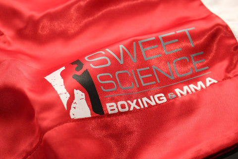 Sweet Science Boxing Comeptition Trunks - Red - Sweet Science Boxing - 1