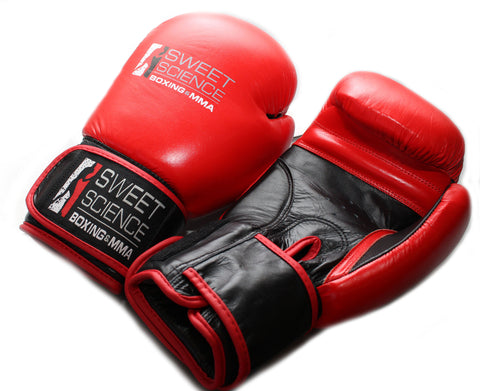 Sweet Science Boxing Punching Bag Gloves - Leather Red/Black - Sweet Science Boxing - 1