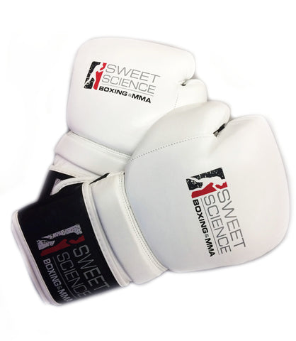Sweet Science Boxing Hybrid Training Gloves - White/Black - Sweet Science Boxing - 1