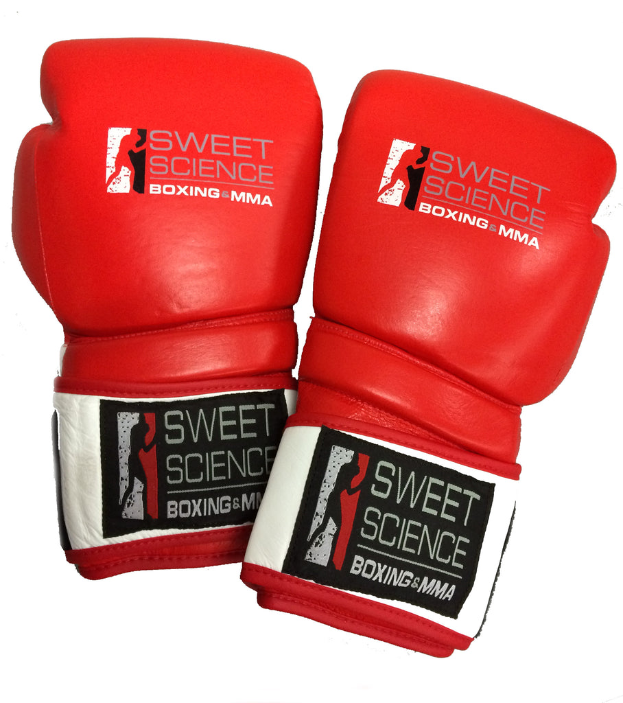 b2fa8d36bf52 Sweet Science Hybrid Sparring Training Glove - Red White - Leather - Sweet  Science. Sweet Science Boxing