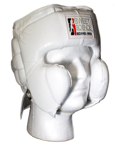 Sweet Science Boxing & MMA Leather (Kids) Headgear with Cheek Protectors - for ages 8-12 years old