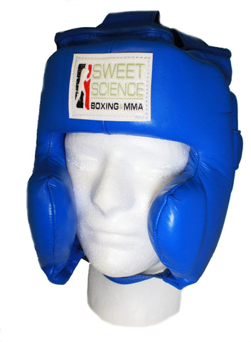 Sweet Science Boxing & MMA Leather (Kids) Headgear with Cheek Protectors - for ages 6-9 years old