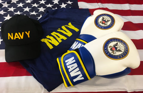 Officially Licensed U.S. Navy Boxing Gloves - 16oz.