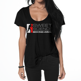 Sweet Science Womens Boxing Flowy T-Shirt: The Original - Sweet Science Boxing - 3