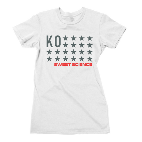 Sweet Science Boxing Women's Tee: KO Stars - Sweet Science Boxing
