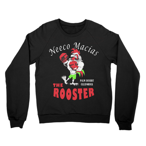 "Neeco Macias ""The Rooster""  Sweater - Black - Sweet Science Boxing"