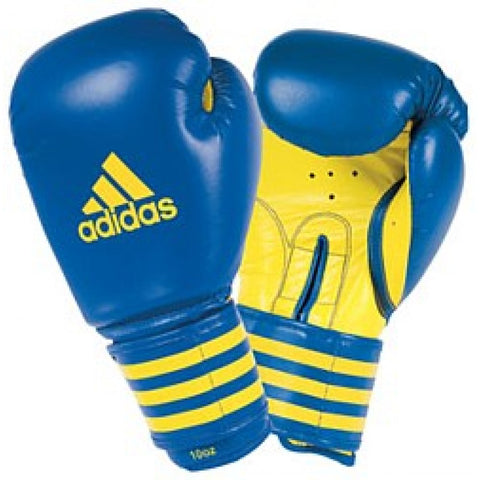 ADIDAS BOXING TRAINING GLOVES BLUE/GOLD