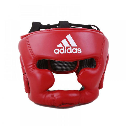 ADIDAS RESPONSE BOXING HEAD GUARD -RED