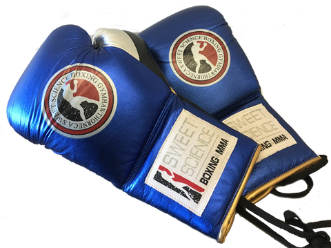 Sweet Science Boxing Elite Prof Fight Glove - Blue - Sweet Science Boxing - 1