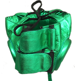 Sweet Science Elite Pro Boxing Headgear - Green/Leather - Sweet Science Boxing - 3
