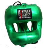 Sweet Science Elite Pro Boxing Headgear - Green/Leather - Sweet Science Boxing - 1