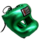 Sweet Science Elite Pro Boxing Headgear - Green/Leather - Sweet Science Boxing - 2