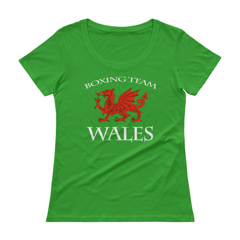 Wales Boxing Team Ladies' Scoopneck T-Shirt