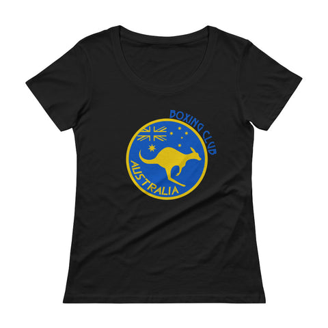 Australia Boxing Club Ladies' Scoopneck T-Shirt