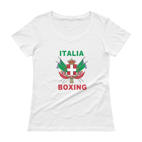 Italia Boxing Ladies' Scoopneck T-Shirt