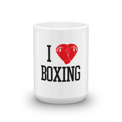 Sweet Science Boxing I Love Boxing Coffee Mug - Sweet Science Boxing - 1