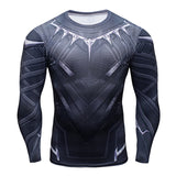 Black Panther Long Sleeve Quick Dry Compression MMA Rash Guard
