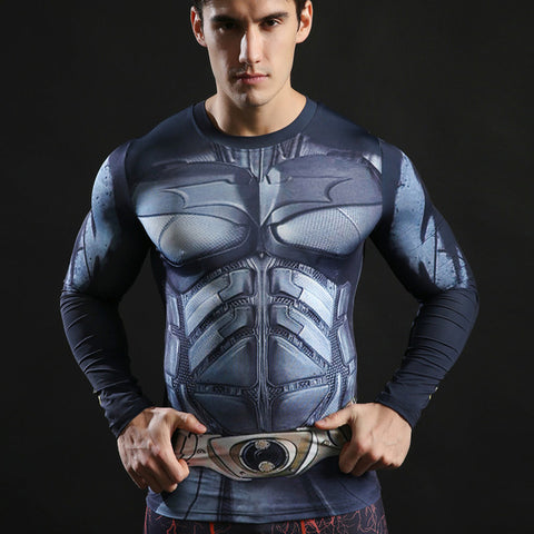 Batman Long Sleeve Compression MMA Rash Guard
