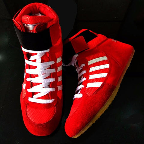 Bull leather Boxing Shoes Mid-Top - Red