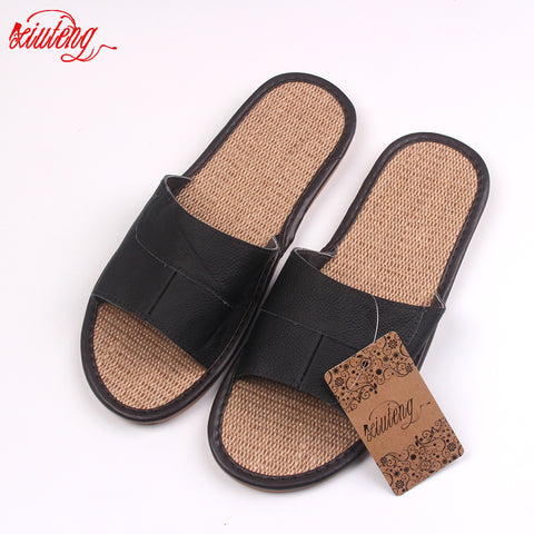 4fd5ae1a8d88 New 2016 Famous Brand Casual Men Sandals Summer Leather Linen Slippers  Summer Shoes Flip Flops Fast. Sweet Science Boxing