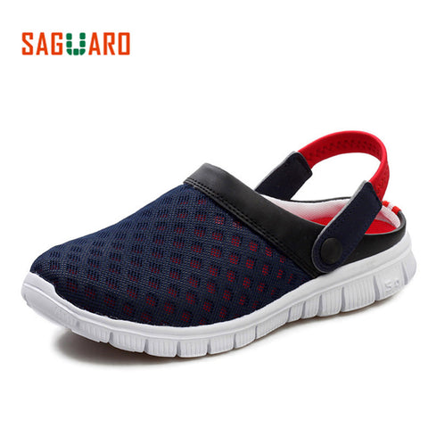 4737bf0279b2 SAGUARO Summer Men Slippers Shoes 2017 Fashion Mesh Slippers Unisex Beach  Sandals Casual Flat Slip On. Sweet Science Boxing