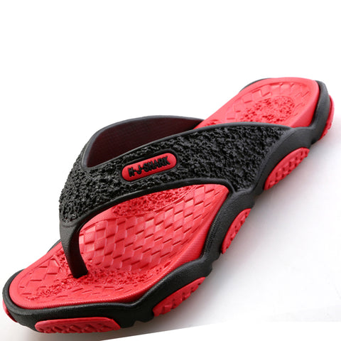 dc8350a734f9 Men Designer Flip Flops Breathable Rubber Beach Shoes