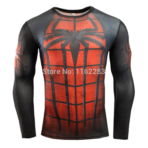 Spiderman Long Sleeve Compression MMA Rash Guard