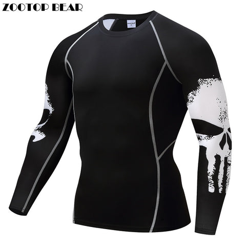 The Punisher Long Sleeve Compression MMA Rash Guard