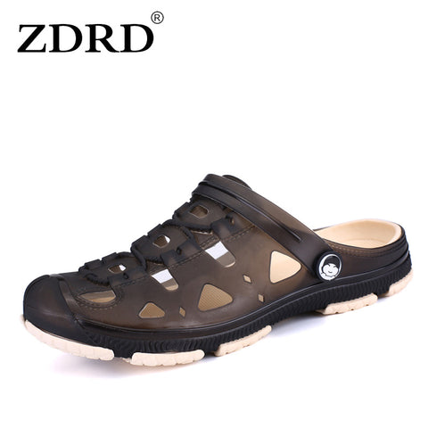 a8e2ad00553e16 ZDRD Fashion Summer Men slippers Breathable beach sandals croc male shoes  Hollow out of the drag