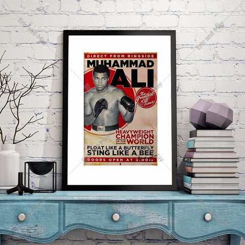 Retro Ali Muhammad Ali Canvas Art Print Fight Posters