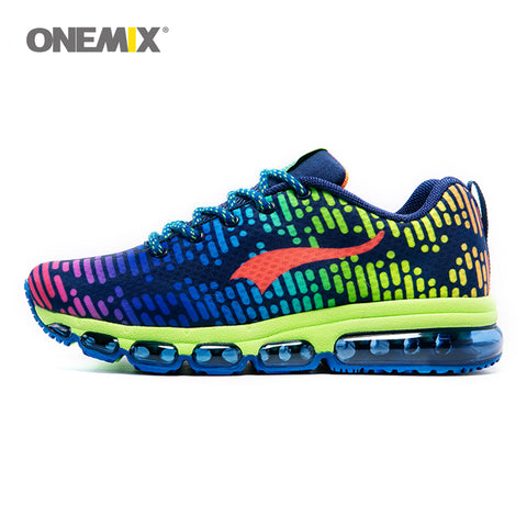 In the Matrix Running Shoes - Rainbow Blue