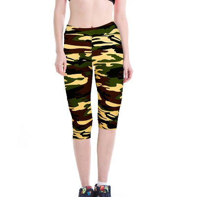 Camo Print Fitness Sport Leggings Yoga Pants