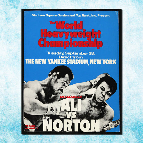 Muhammad Ali vs Ken Norton Art Silk Canvas Poster 24x30 inches
