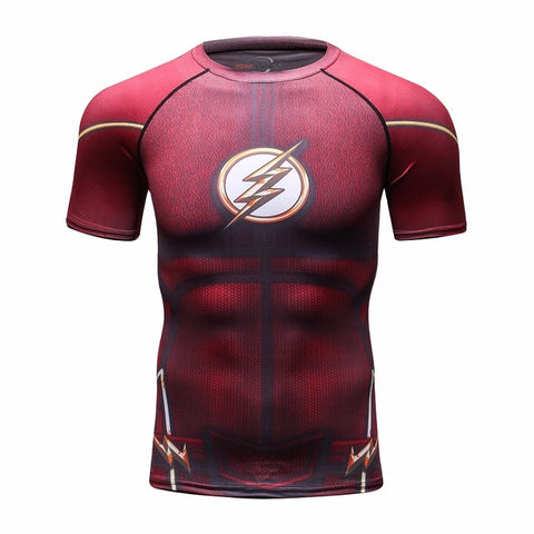 The Flash Short Sleeve Quick Dry Compression MMA Rash Guard