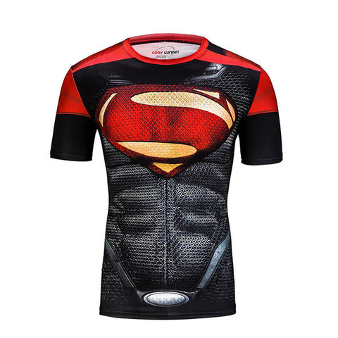 Superman Short Sleeve Compression MMA Rash Guard