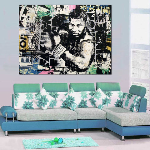 WANG ART Oil Painting Wall Painting Living Room Greg Gossel Never Was Mike Tyson Paintings On Canvas Modern No Frame Picture