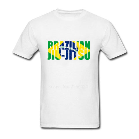 Mens Brazilian Jiu Jitsu Flag T Shirt