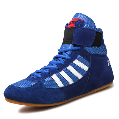 Bull leather Boxing Shoes Mid-Top - Blue