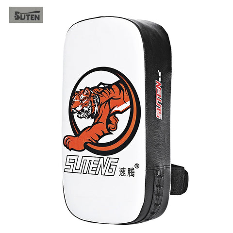 SUTEN PU Leather Punching Kicking Pad Arm Shield Target for Boxing Karate Training Kicking Target  Thai boxing Sanda Bag