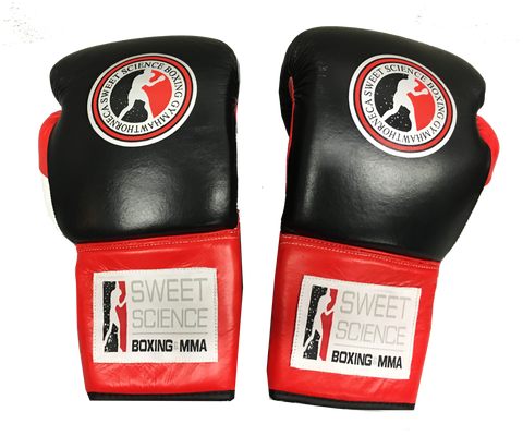 Sweet Science Boxing Elite Pro Gloves - Leather Black/Red - Sweet Science Boxing - 1