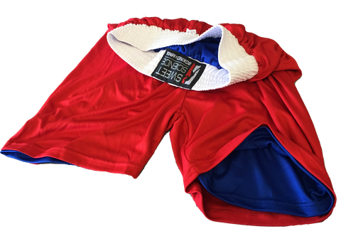 Sweet Science Boxing Reversible Comeptition Trunks - Red/Blue - Sweet Science Boxing - 1