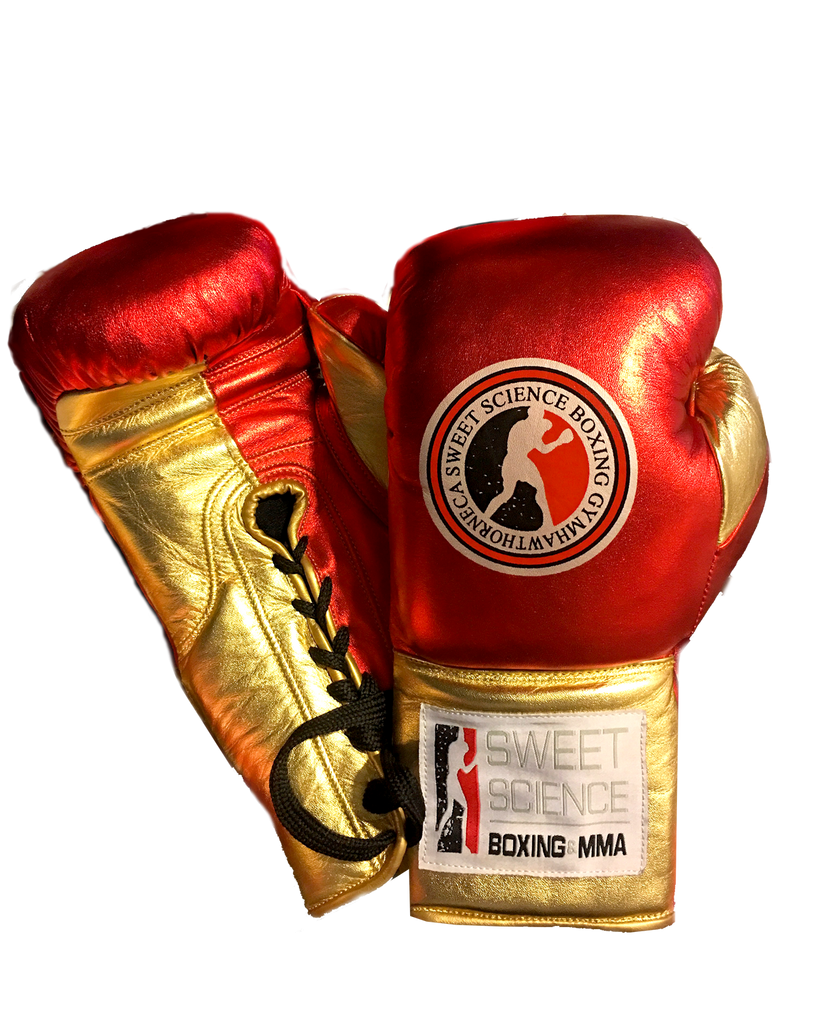 Sweet Science Boxing Elite Pro Fight Glove - Red/Gold